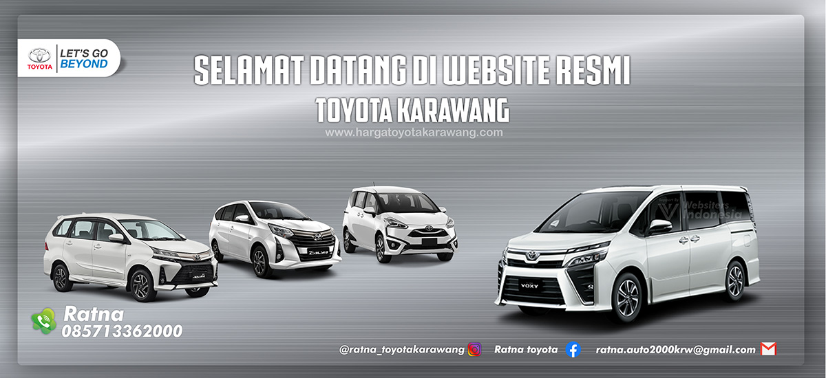 Slider Harga Toyota Karawang by Websiters Indonesia